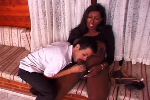black shemale And Whellote boy oral sex-job